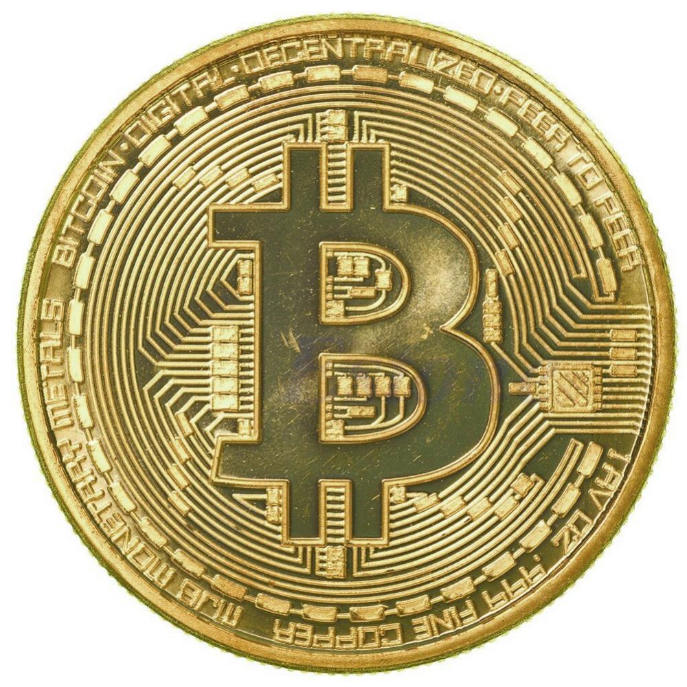 1 x Gold Plated Bitcoin Coin Collectible BTC Coin Art Collection Gift Physical