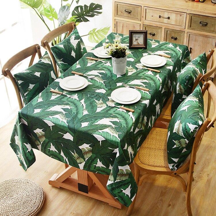 Folha de impressão mesa lona pano casa cafe móveis anti poeira nórdico toalha de mesa fotografia adereços