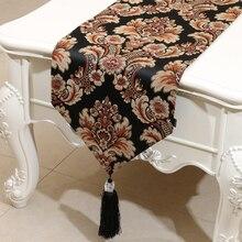 High end damast jacquard brocade moderne tisch läufer bett läufer tisch tuch für hochzeit home hotel dekoration home textil