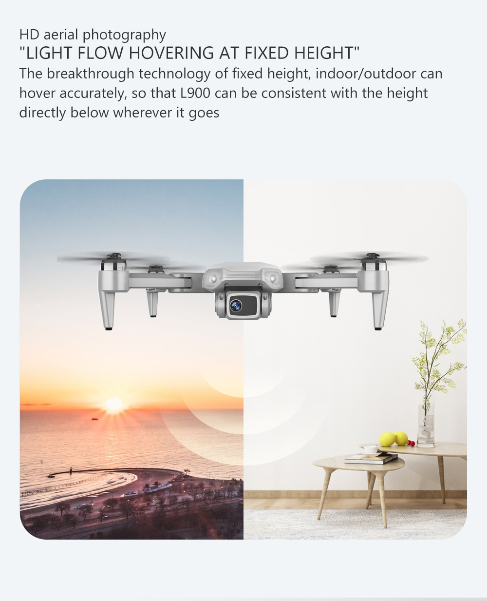 CONUSEA 2020 NEWEST L900 GPS Drone 4K With Camera Foldable RC Helicopter WiFi FPV Dron Brushless Professional Quadcopter RTF enlarge