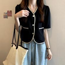 short sleeve v-neck women coats 1726#