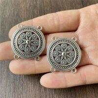 junkang 10pcs metal alloy 4 corner flower cap pendant connecting piece diy making necklace bracelet jewelry accessories