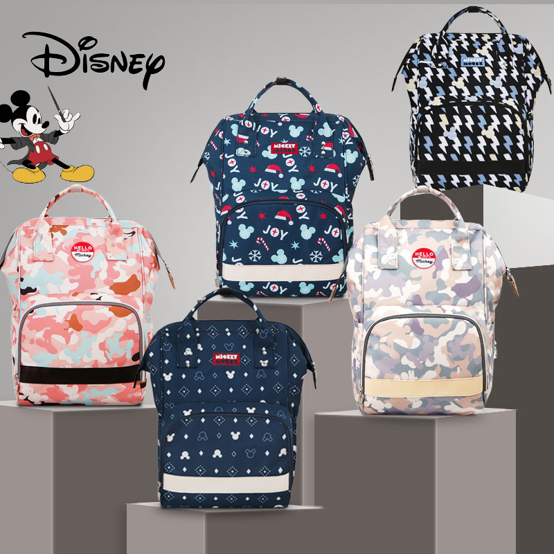 Disney Mickey Diaper Bag Backpack USB Fashion Mummy Maternity Nappy Bag Baby Diaper Bags Mummy Bag Multifunction Baby Nappy New disney mickey mouse diaper bag waterproof baby care mummy bag maternity backpack large nappy bag oxford cloth baby bag