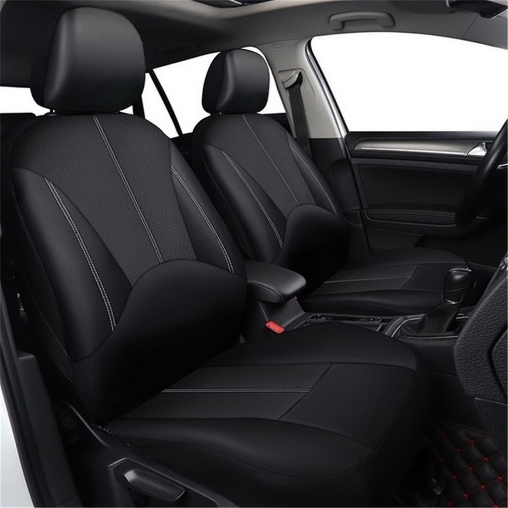 4pcs Pu leather car seat cover artificial leather four seasons universal cushion Many seats car seat protection