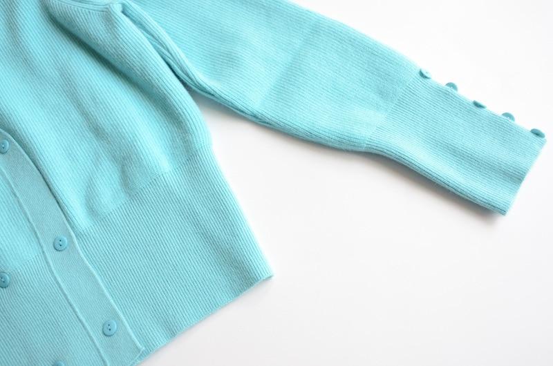 2021  Spring Sweater Cardigan V Neck Long Sleeve Black Blue Womens Cardigan S M L enlarge
