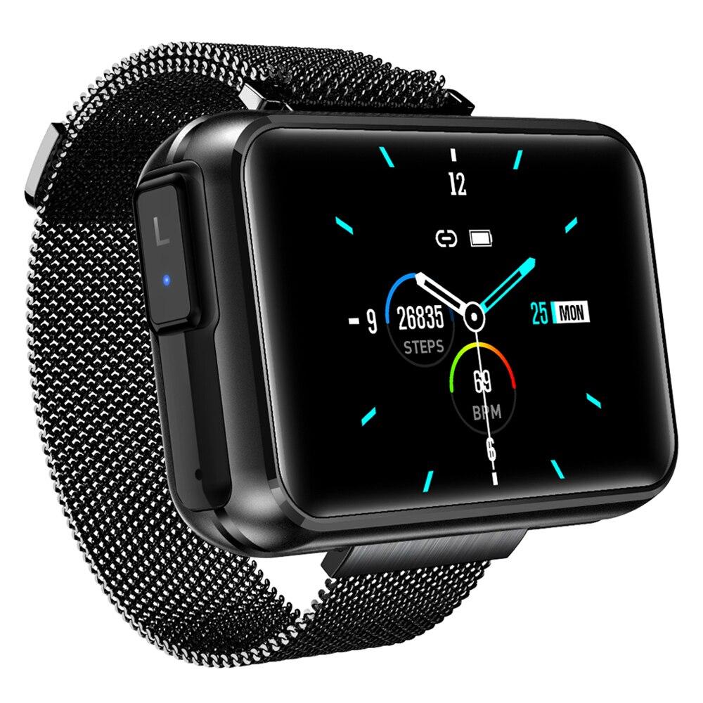 2in1 TWS سماعة لاسلكية تعمل بالبلوتوث سماعة ساعة ذكية T91 النساء الرجال 1.4 بوصة شاشة كبيرة بلوتوث دعوة اللياقة البدنية الرياضة ل أندرويد iOS