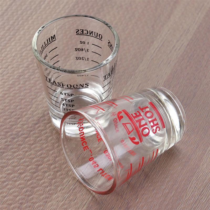 30 мл стеклянная мерная чашка для эспрессо, стеклянная чашка для жидкого стекла, чашка для унции со шкалой, кухонные измерительные принадлежности для инструментов