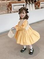 children princess lace dress little girls long sleeve dress cute toddler kids loose cotton casual lovely baby girls dress
