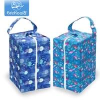 eezkoala 2pcs cloth diaper wet bag washable cloth diaper pod bag high capacity baby diaper bag