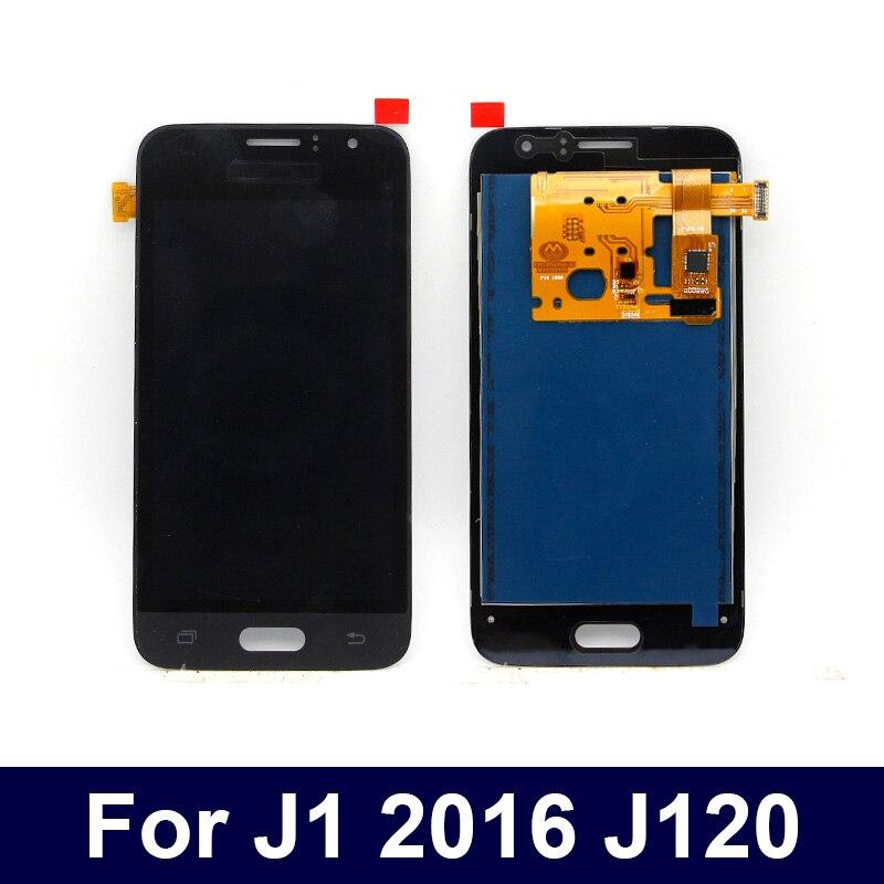 Prueba de 100% puede ajustar brillo LCD para Samsung Galaxy J1 2016 J120 J120F J120H J120M LCD pantalla táctil