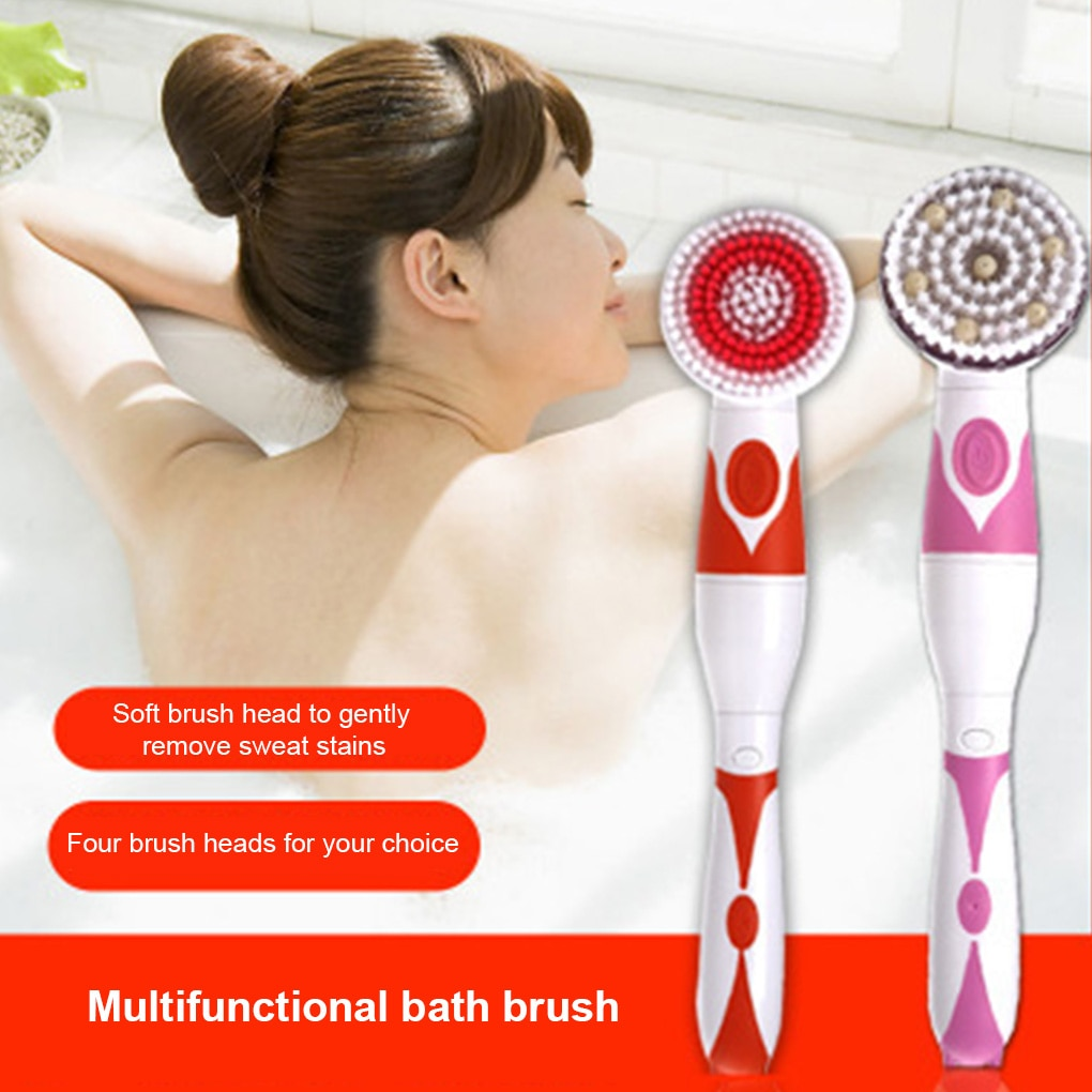 Automatic Shower Brush  4 in 1 Multifunctional Electric Bath Cleaning Massage Brush Waterproof Anti-slip Shower Spa Tool enlarge