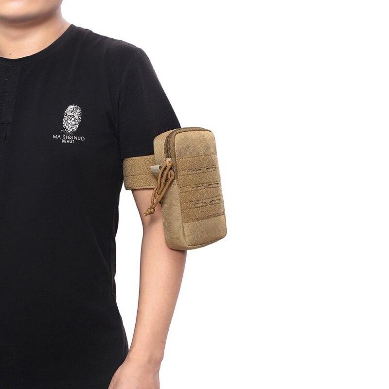 Bolsa táctico militar de la banda de brazo bolso de lona protector impermeable bolsa para teléfono móvil ciclismo Running ajustable bolsa de muñeca