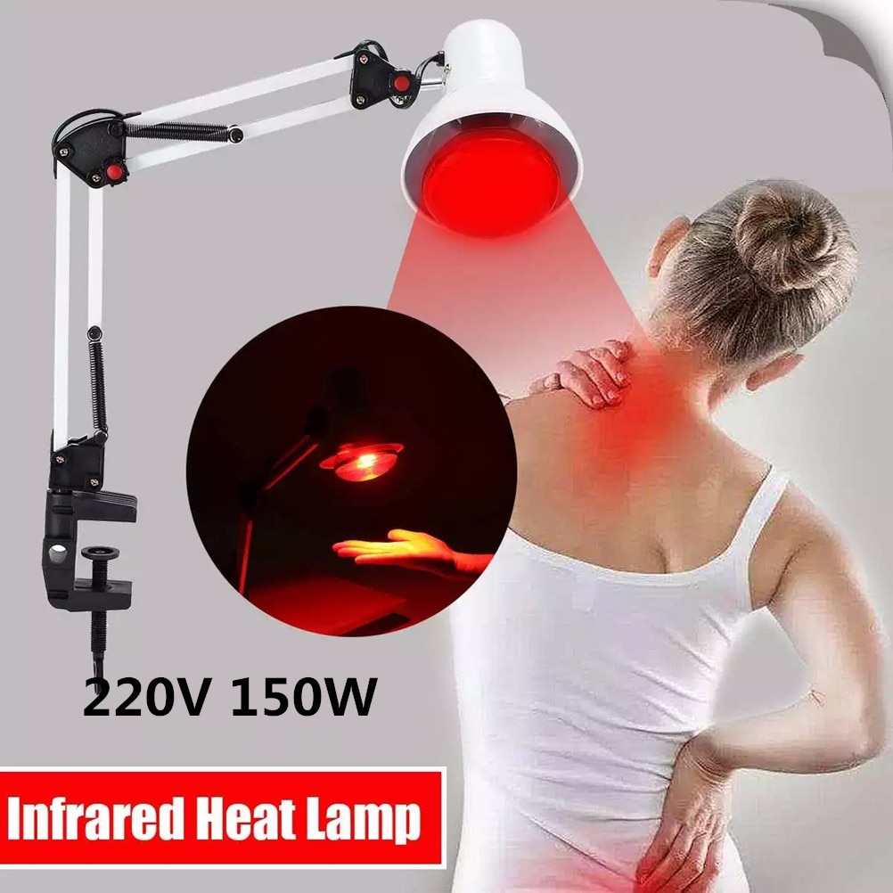 Red Lamps Massage Heating Therapy Light 150W Infrared Light physiotherapy Red Light with Clamp Back Shoulder Pain Relief