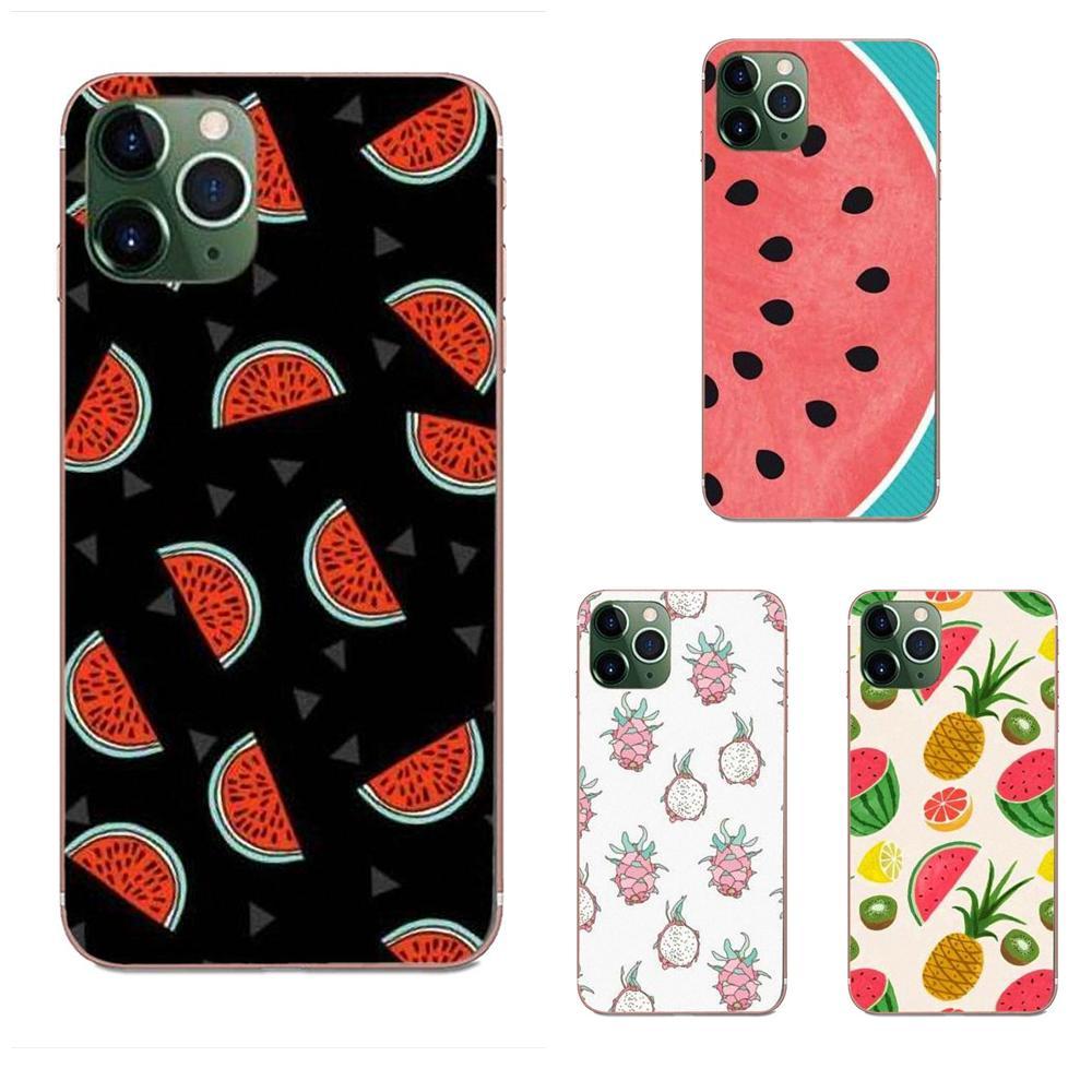 Teléfono Celular TPU para LG G2 G3 G4 G5 G6 G7 K4 K7 K8 K10 K12 K40 Mini Plus ThinQ de 2016, 2017 de 2018 piña fruta de verano de limón