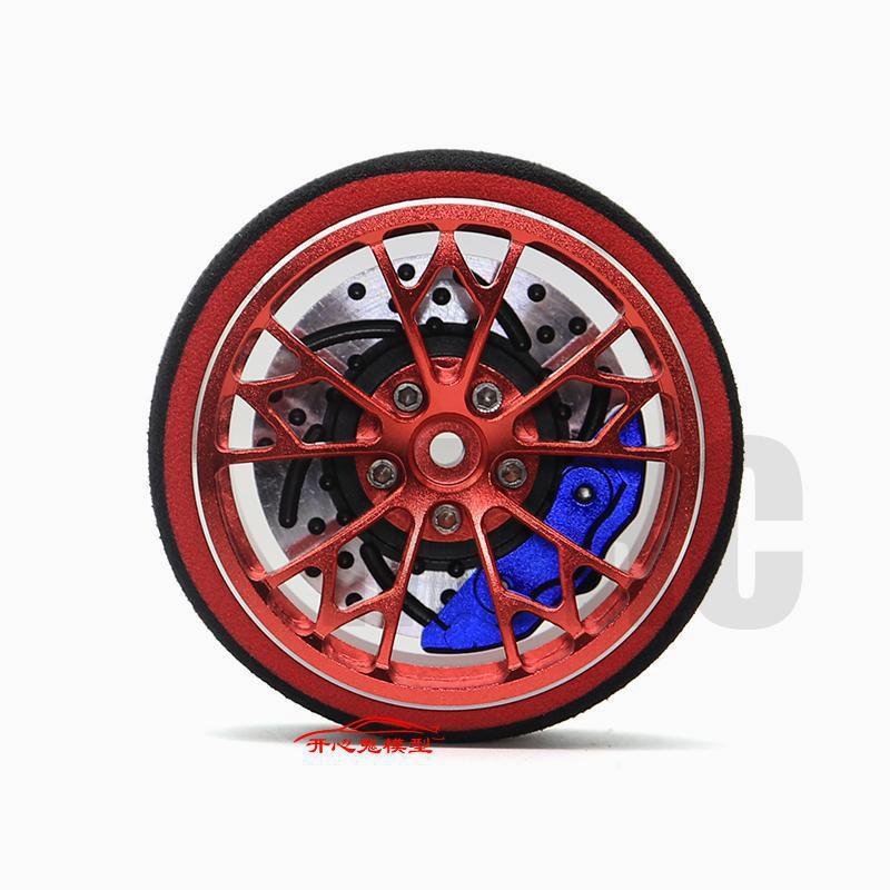 AJRC Black Red Metal remote control handwheel for SANWA MT4 MT4S M11X M11 MX-V Steering wheel enlarge