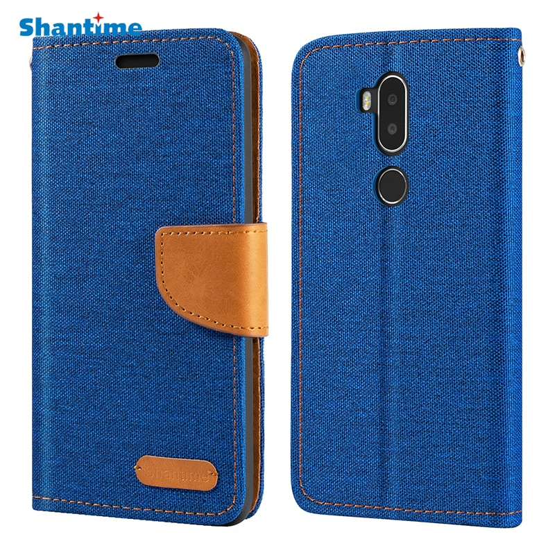 Oxford Leather Wallet Case For Alcatel A7 XL With Soft TPU Back Cover Magnet Flip Case For Alcatel A