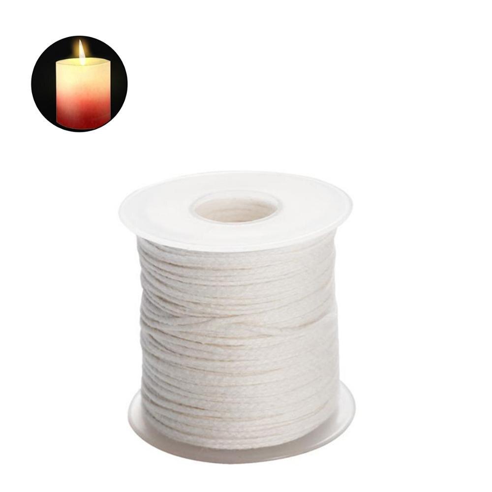 1 rollo 100% algodón mechas para velas sin humo mechas para velas trenza de base mechas para velas de la planta de soja cera de alimentación de núcleo