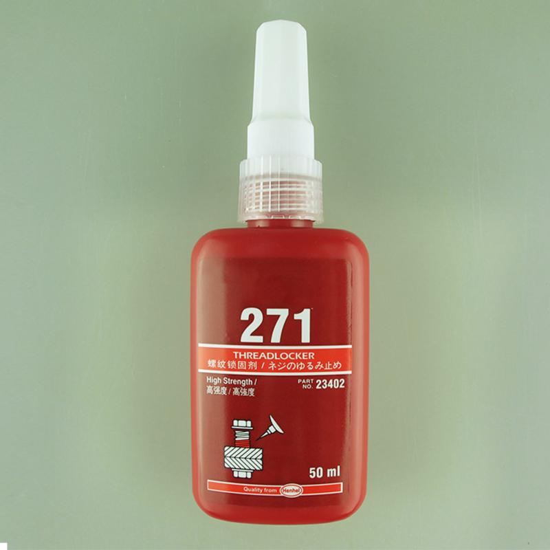 271 50ML Metal Screw Glue Cylindrical Retainer Locking Adhesive Anaerobic Adhesive Thermal Strength Environment Resin Glue