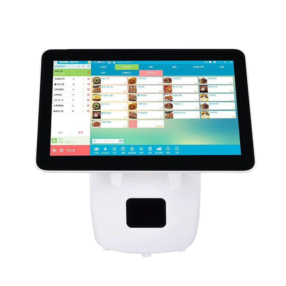 Горячая продажа 15 дюймов Android POS кассовый аппарат с 58 мм Bluetooth принтер для оплаты заказа