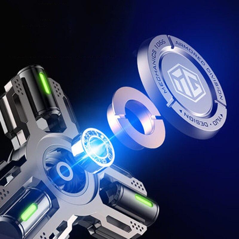 Hot Selling Zinc Alloy Fidget Spinner Metal Tri Hand Spinner Finger Focus Smooth Hybrid Bearing Decompression Toys For Kids Gift enlarge