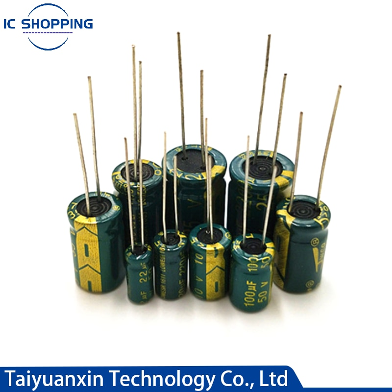 Высокочастотный алюминиевый конденсатор с низким сопротивлением, 10 в 16 в 25 в 35 в 50 в 63 в 100 в 400 в 450 в 100 220 330 1000 2200 мкФ