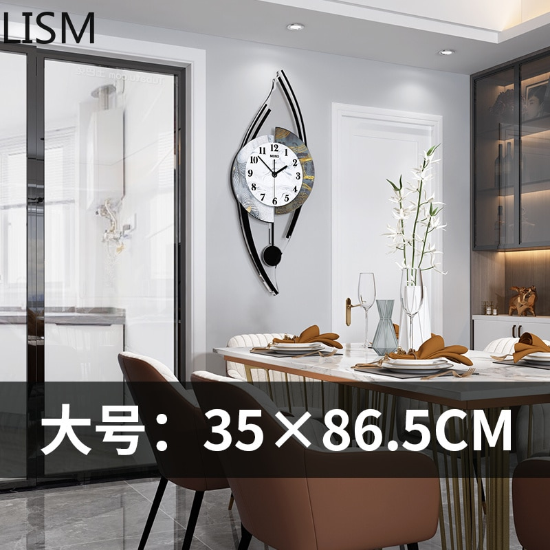 Mecanismo con Péndulo sala de estar Reloj de Pared de diseño moderno...