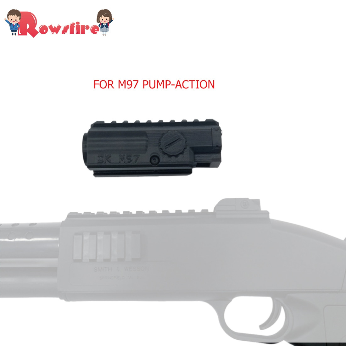 Rowsfire 1 шт. большой емкости журнал для M97 насос-действие водные гелевые бусинки выстрел бластер-черный
