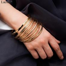 Lacteo 11 pièces/ensemble bohème Multi élément Barcelet Bracelet pour les femmes déclaration 2019 mode or rond cercle Bracelet à breloques