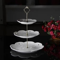 3 tier sturdy cake plate stand cupcake tray handle fittings hardware cake tools