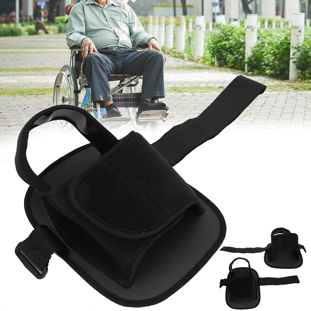 كرسي متحرك الحذاء المضادة للانزلاق السلامة كرسي متحرك الدواسات القدم الراحة لكبار السن سلامة المريض مسند قدم ثابت حزام مقاومة للاهتراء