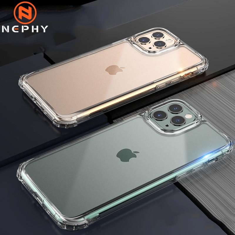 Caso de silicone ultrafino luxo para iphone 7 8 6s plus 5 5S 5se 4 4S capa traseira para apple x 10 11 pro xs max xr 2019 clara capa