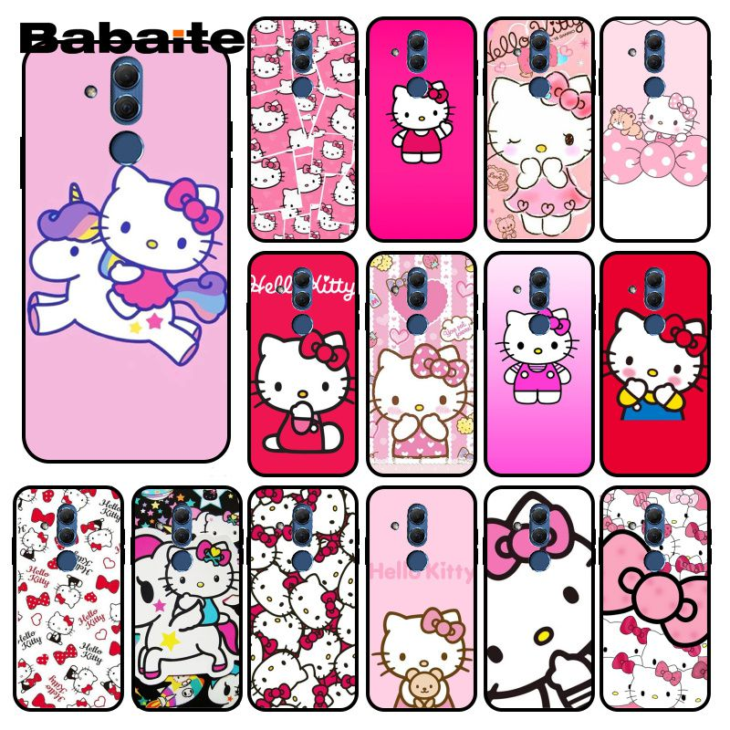 Babaite Kawaii lindo Hello Kitty funda del teléfono para Huawei Mate 10 20 Lite 20X Mate20 10 Pro Mate9 Nova3 3i