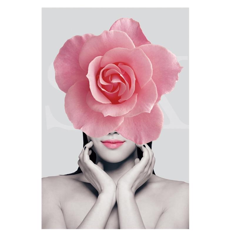 Rose Flower Avatar Punk Patch Beautiful Women Heat Transfer Iron On Clothes Stickers Fashion Diy Accessory Iron Ondresses