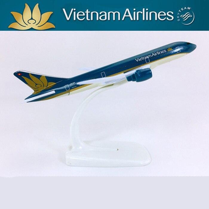 Juguetes educativos para niños Vietnam 787 decoración de modelos de aviones con muebles decoración joyería modelo de simulación de aviones