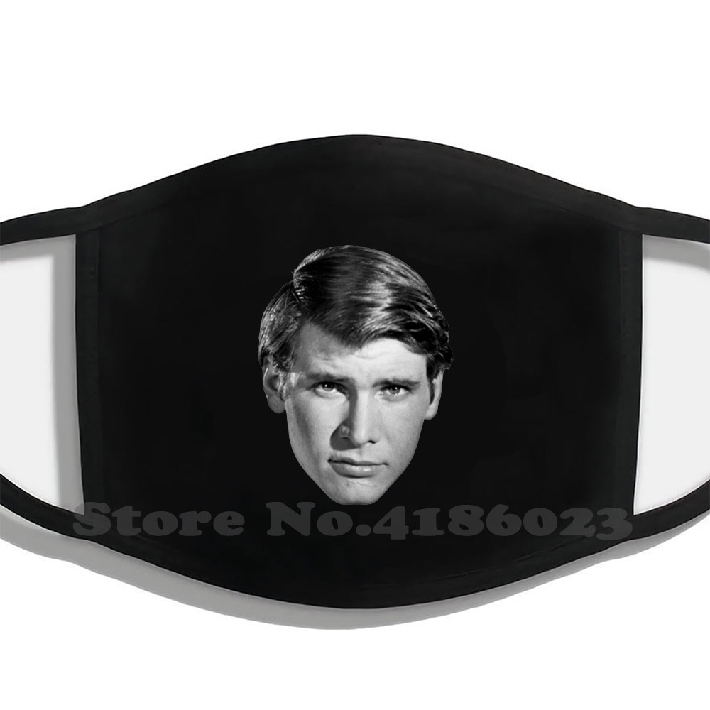 Suave Harry Winter Hot Sale Print Diy Masks Indiana Jones Han Solo Harrison Ford Face Famous Celebrity Vintage Cheesy Yearbook
