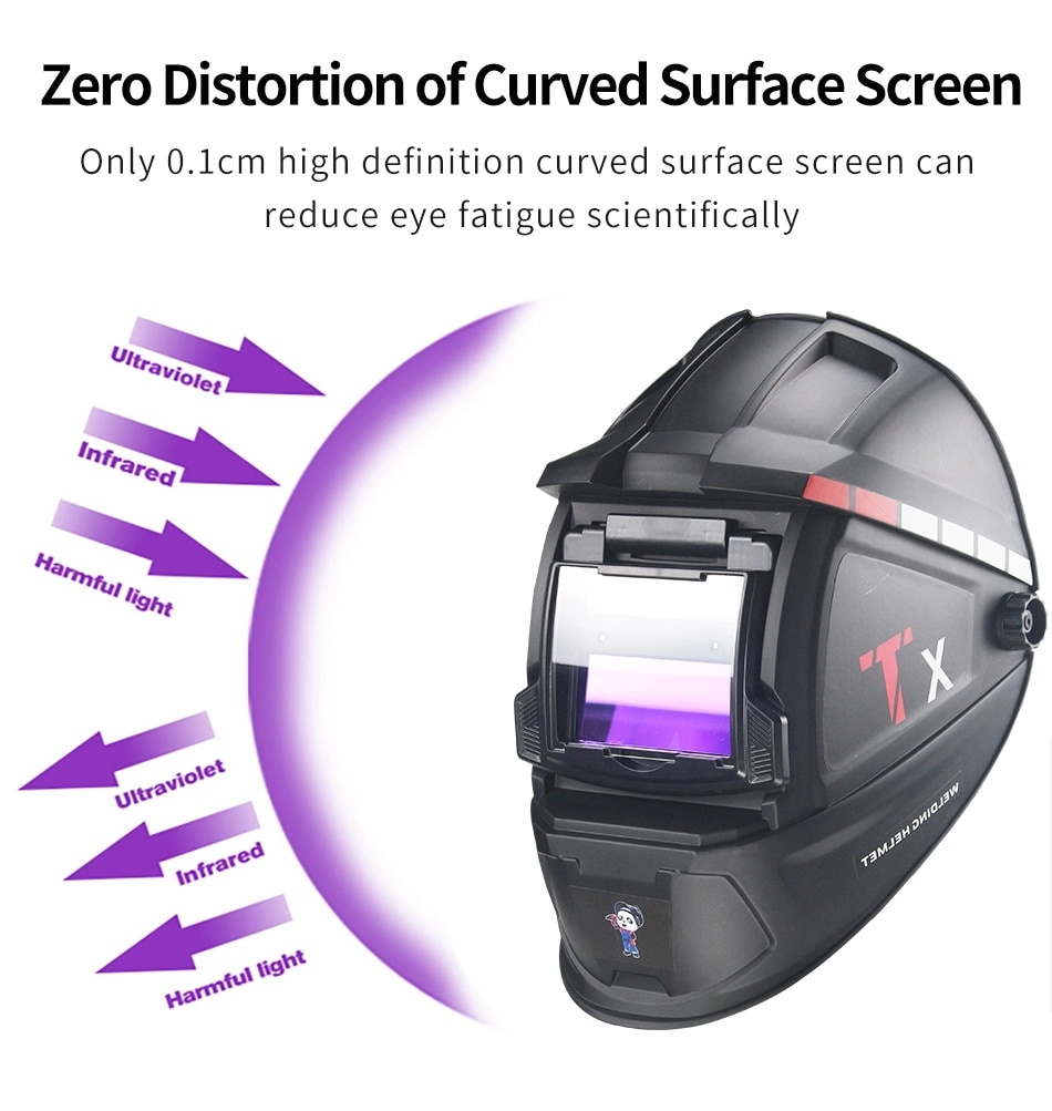 Máscara de Soldadura con oscurecimiento automático equipos de soldadura o para corte por Plasma