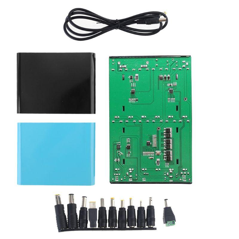 QC 3,0 USB DC 12V-24V salida ajustable 12x18650 baterías DIY banco de energía caja para portátil Router telefónico móvil Tablet LED