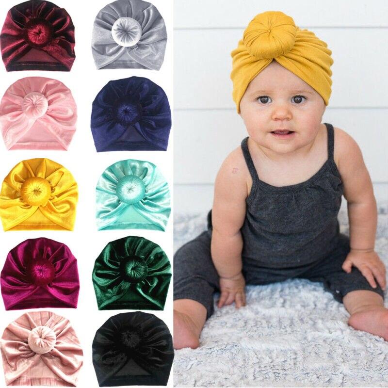 Criança meninas crianças chapéus bebê grande arco hairband bandana elástico turbante nó cabeça envoltório caps