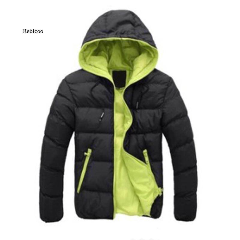 Повседневная парка с капюшоном, зимняя мужская Модная хлопковая приталенная куртка в стиле пэчворк, плотная Теплая мужская парка, куртка на...