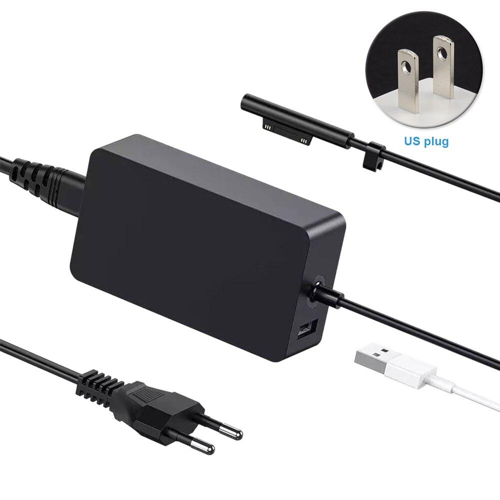 Планшет с защитой от помех, широкое напряжение 15 в 4A, зарядное устройство, кабель питания, дорожный адаптер, аксессуары для Microsoft Surface Pro3