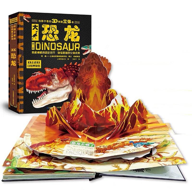 3D Large Dinosaur Pop-Up Book for Kids, Secret Dinosaur Reading Book for 3-10 Years Old Kid