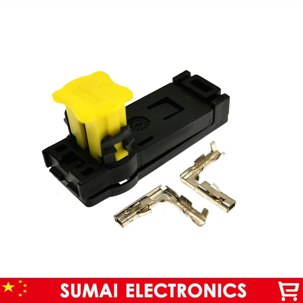 Conector de la bolsa de aire de coche de 2 pines, enchufe de la bolsa de aire del coche de 2 P, seguridad del asiento para Toyota, honda, etc.