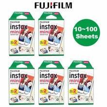 Fujifilm Instax Mini Film 10 20 30 40 50 60 80 100 Sheets 3 inch For mini 9 Polaroid FUJI Instant Ca