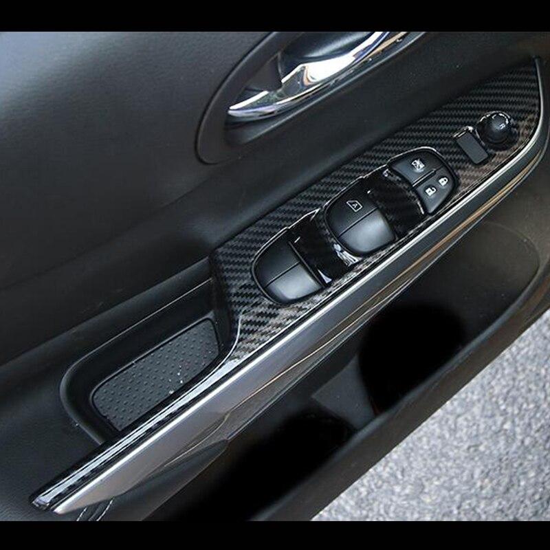Para Nissan Navara NP300 ABS accesorios de plástico cromado 2017 2018 2019 puerta ventana vidrio ascensor interruptor de Control cubierta de Panel embellecedor