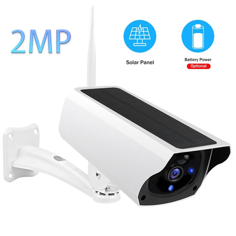 Уличная IP Камера 1080P HD проектор для домашнего безопасности Камера Wi Fi Батарея Панели солнечные Мощность CCTV Камеры Скрытого видеонаблюдения Камера Водонепроницаемый двухстороннее аудио