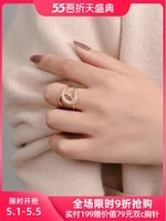internet celebrity cross open ring womens high grade temperament exaggerated personalized ring light luxury index finger ring s