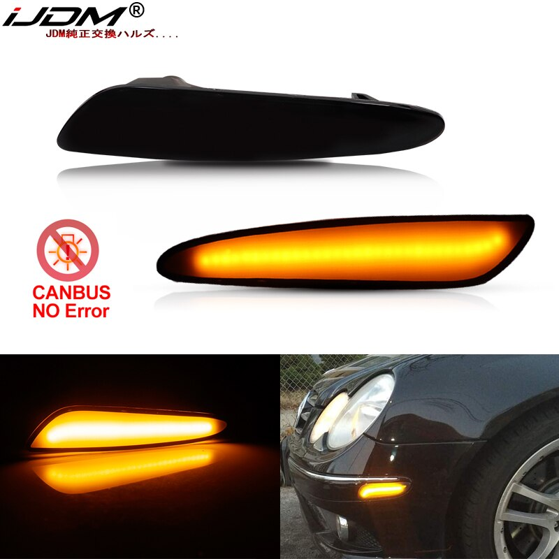 IJDM ámbar completas de LED para lateral de parachoques de luz para 2003-2006 Mercedes Benz W211 Clase E E320 E55 AMG E500 de señal de vuelta de luz de la lámpara