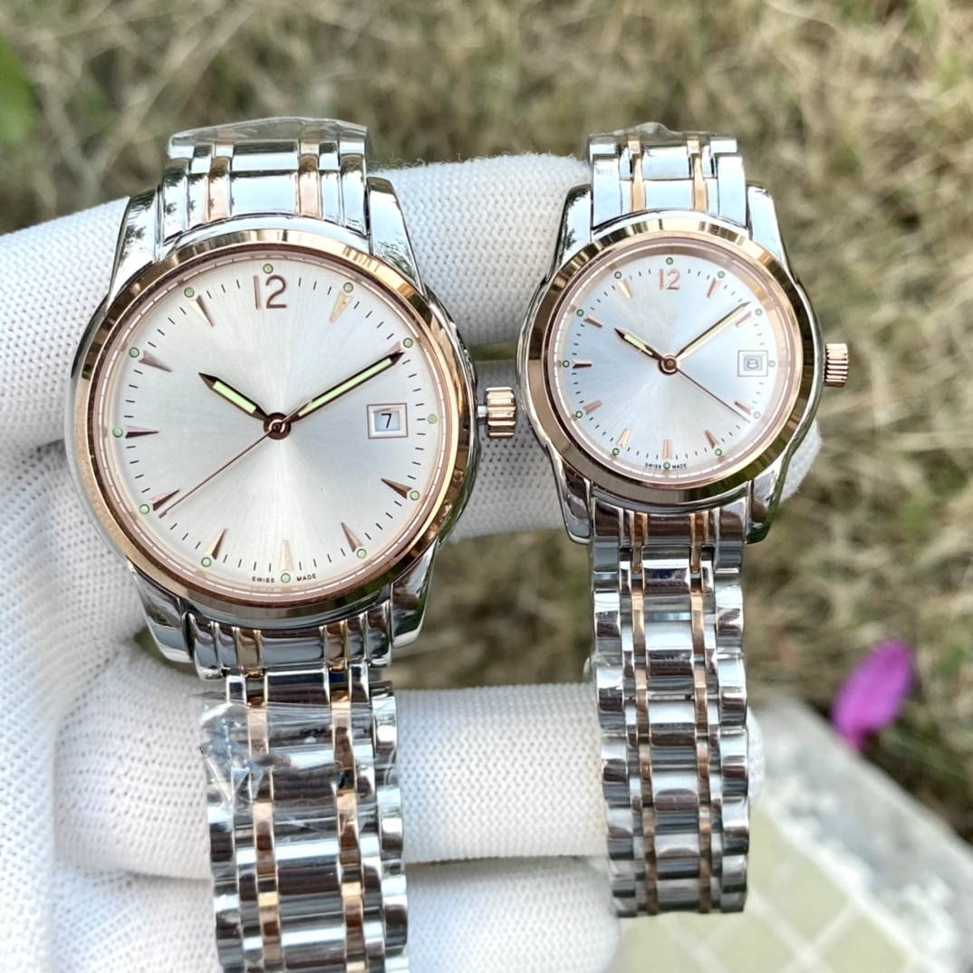 Gold stainless steel couple watch couple watch automatic mechanical watch stainless steel waterproof couple watch