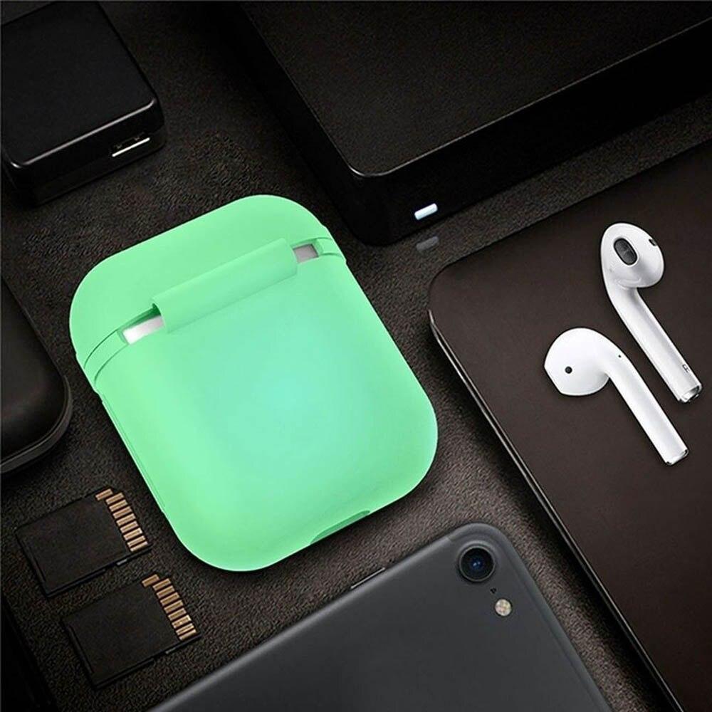 La última funda luminosa de silicona para auriculares Bluetooth, funda de protección para Airpods, auriculares que brillan en la oscuridad