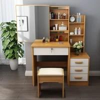 new modern dressing table cabinet dressing cabinet apartment white desk bedroom vanity desk with light mirror dresser pink table